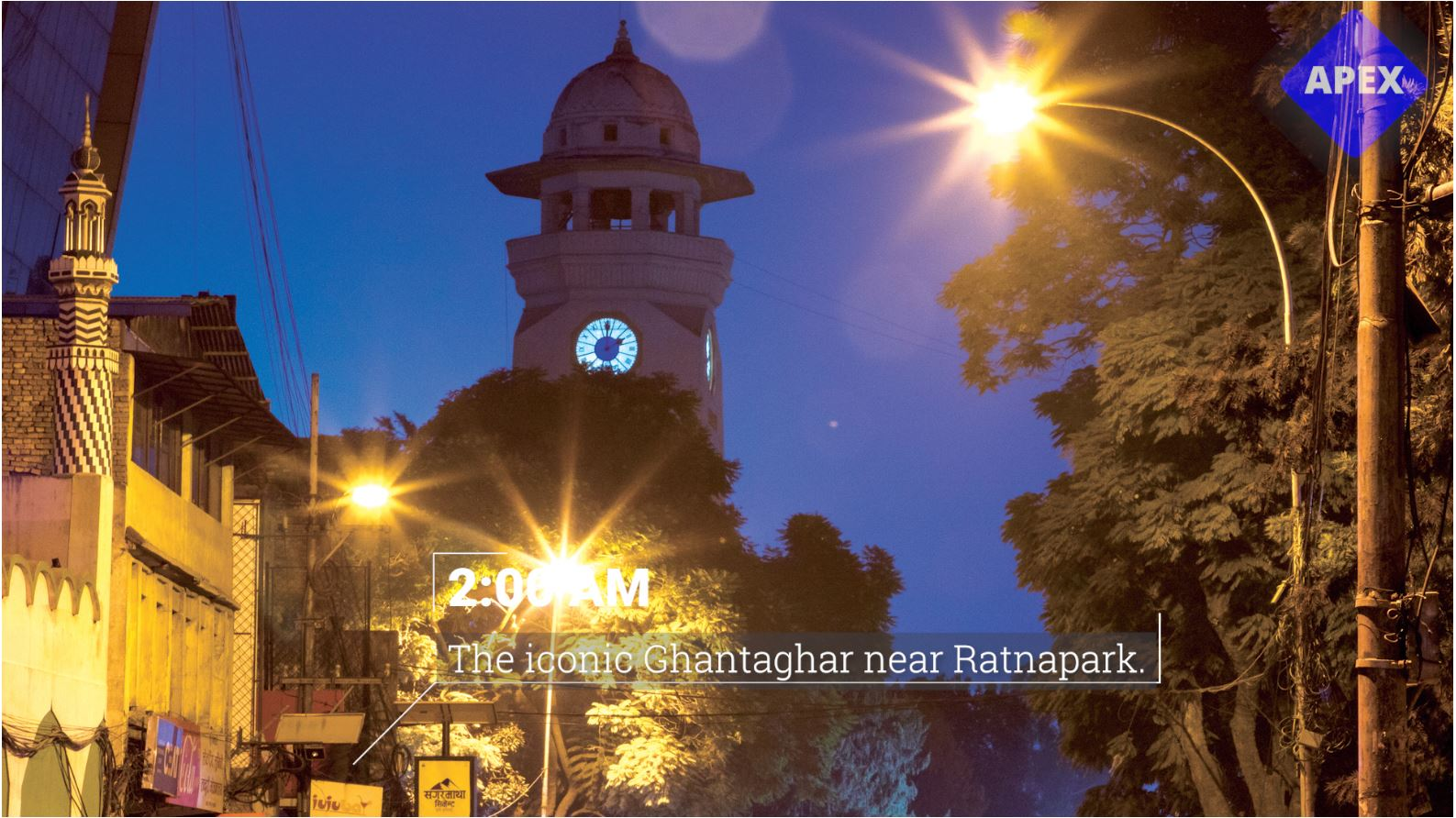 The iconic Ghantaghar near Ratnapark. (2:00 am)
